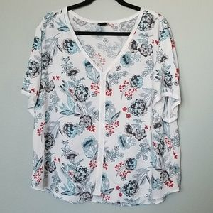 Simply Emma floral blouse 2X